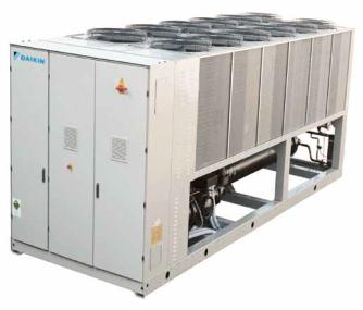 Chillers de condensação a ar Daikin Large AC Inverter Screw chiller (EWAD-CZ) 635 1,800kW cooling capacity Optimized for part load operation AC