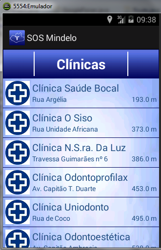 2.4.5 Activity MenuClinica A Activity MenuClinica é inicializada quando um dos botões existentes na Activity MenuEspecialidade for accionado.