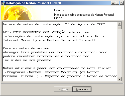 "Instalando Norton Internet Security Instalar Norton Internet Security 35 Consulte ""Registrar seu software"" na página 36."