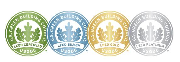 USGBC has four levels of LEED Certified, Silver, Gold and Platinum CERTIFICADO 62,5 pontos