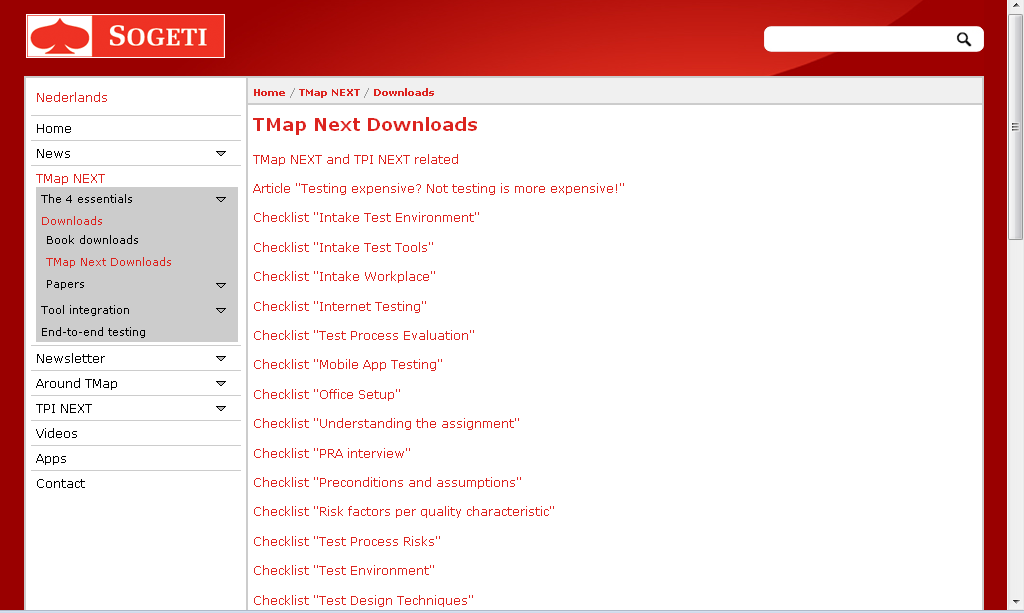 Quer Templates? Tools http://www.tmap.