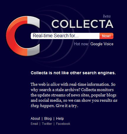 Collecta: Search Engine em Real Time
