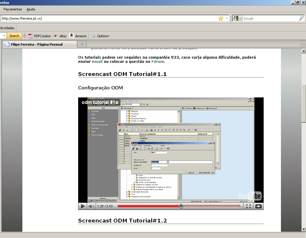 Video-Tuturiais ODM 89 Figura 6-28 - sessão Attached Document Revision (dmcom8110m000) 6.