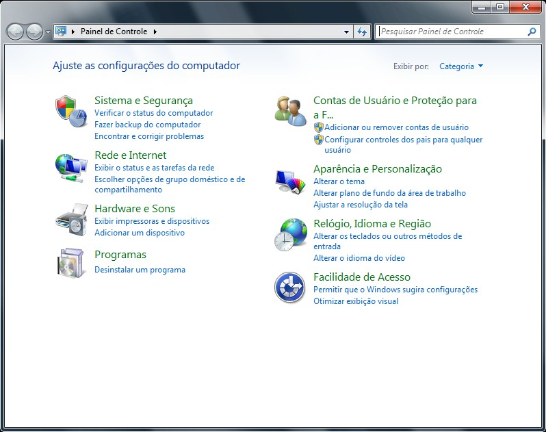 No Windows XP, acessa-se o
