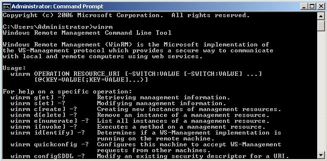 5.2 Habilitando infraestrutura de WS-Management (WinRS e WinRM) Windows Remote Management (WinRM) é a implementação da Microsoft do padrão WS- Management, uma plataforma para gerenciamento remoto.