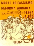 Cartaz número: 03 Defender a reforma agrária Defender Abril A comissão promotora Cerca de 1975 Card number: 03 Defend the land reform Defend April The sponsoring committee Circa 1975 April refers to