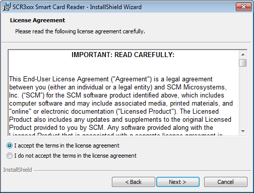 "1.1.6 Selecionar ""I accept the terms in the license"