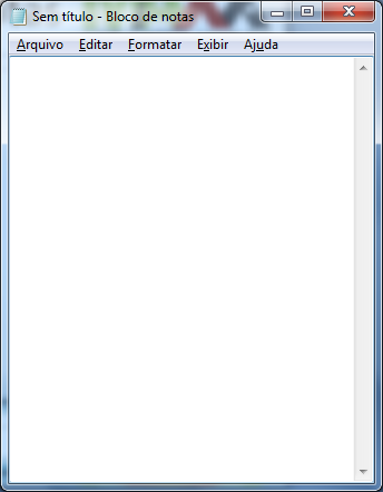 Bloco de Notas Editor de textos do Windows;