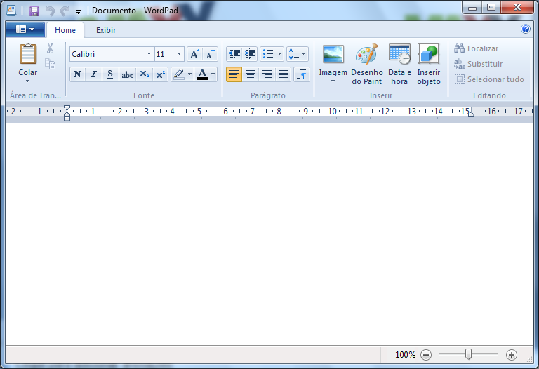 WordPad Editor de textos padrão do Windows