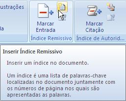 normalmente no final do documento.