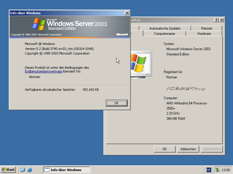 Windows Server 2003 Em 24 Abril 2003, a Microsoft lançou o