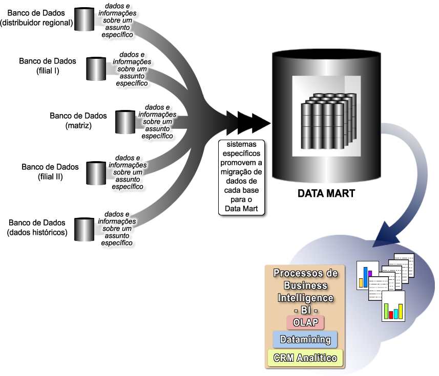 Business Intelligence, CRM, OLAP, Datamining, Data Warehouse e Data Mart Data