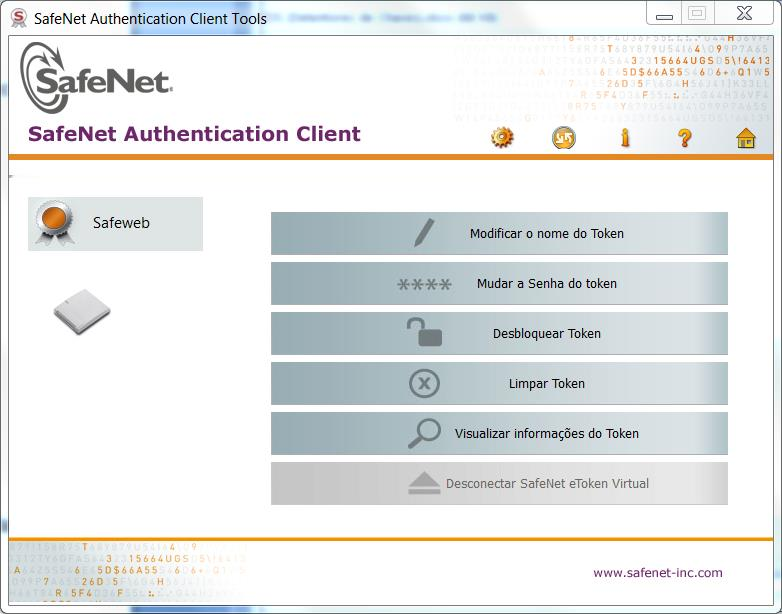 E localize SafeNet e, por fim, SafeNet Authentication Client Tools.
