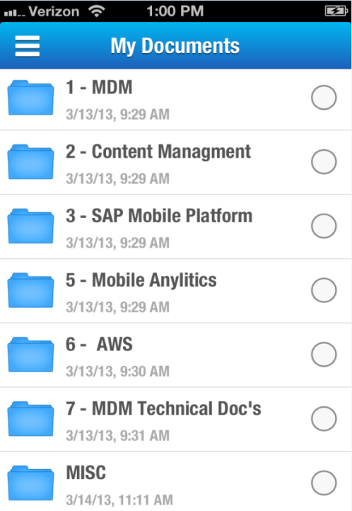 Android ios 2014 SAP