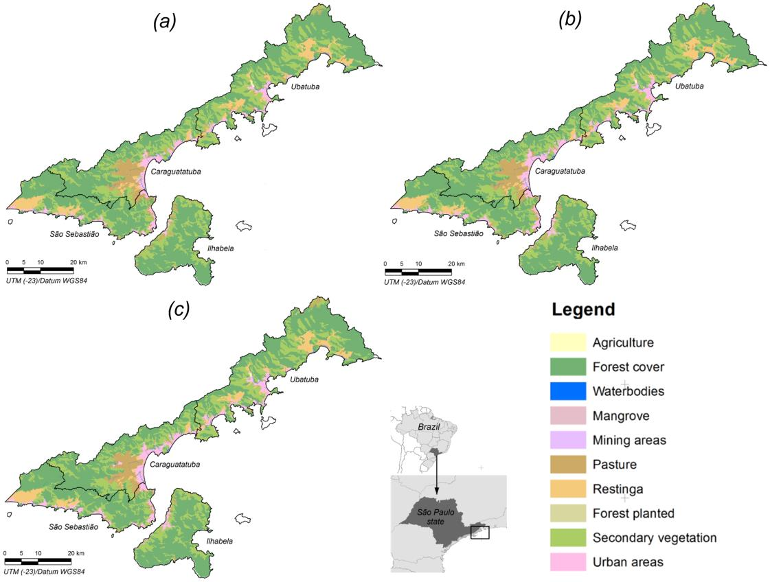 LAND USE AND COVER DYNAMICS IN NORTHERN COAST OF SÃO PAULO: CHANGES IN THE CARBON STORAGE Dinâmica de