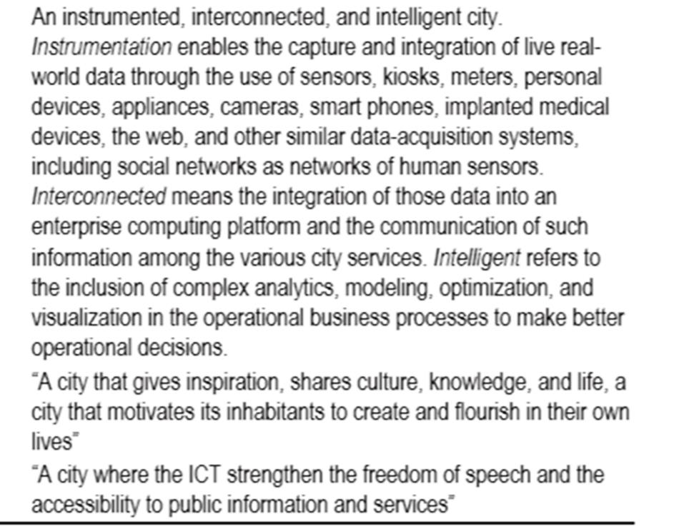 Conceptualizing Smart City