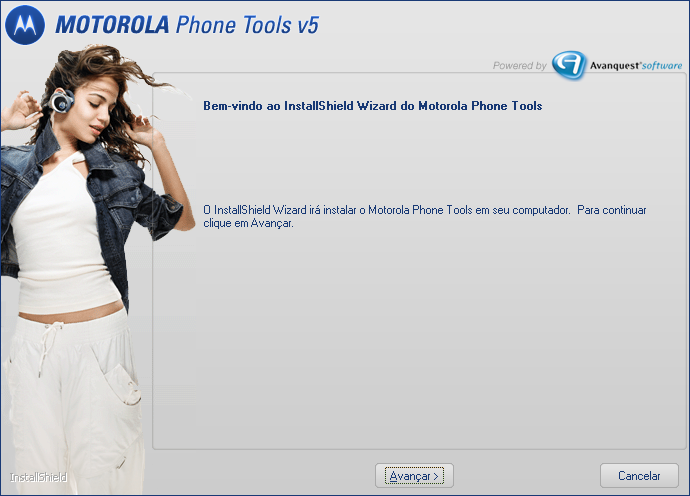 Instalar Motorola Phone Tools Importante! Instale o software antes de conectar o dispositivo no PC.