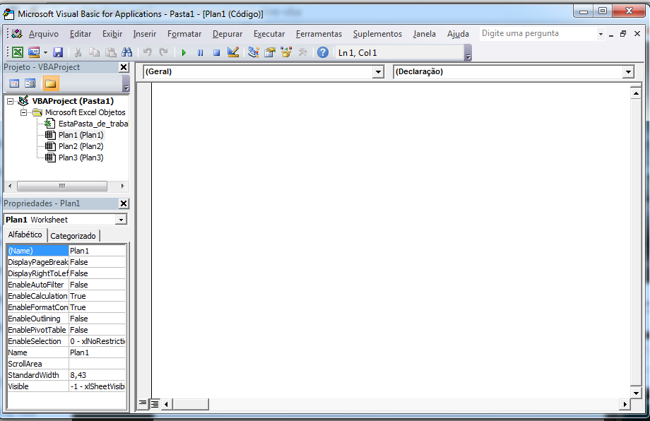 Visual Basic Editor (VBE) 1.