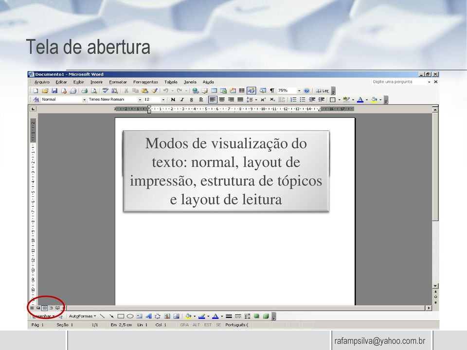 página e do de texto: recuo de normal, de texto a layout a