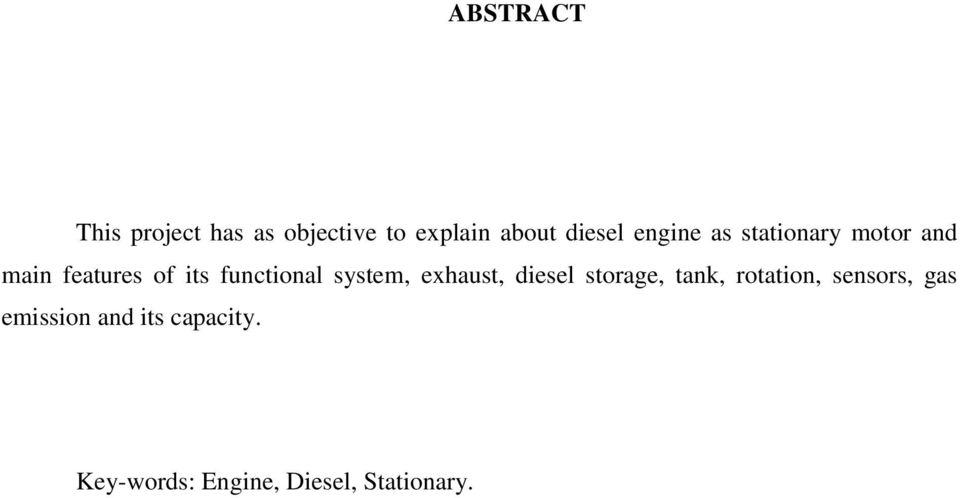 system, exhaust, diesel storage, tank, rotation, sensors, gas