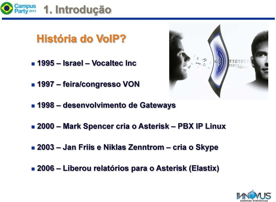 desenvolvimento de Gateways 2000 Mark Spencer cria o Asterisk