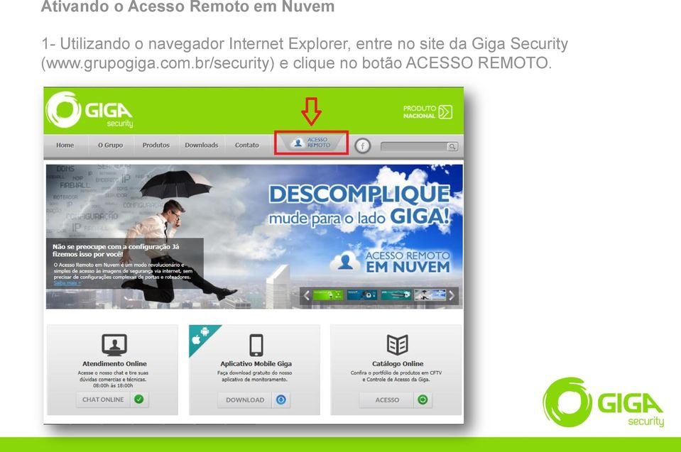 entre no site da Giga Security (www.