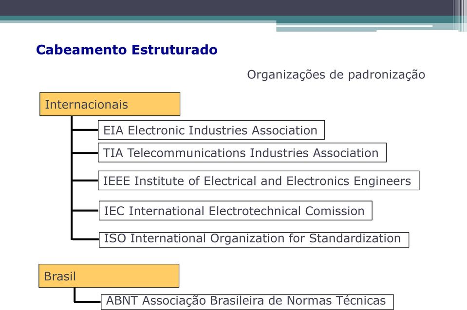 Electronics Engineers IEC International Electrotechnical Comission ISO