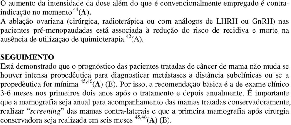 quimioterapia. 42 (A).