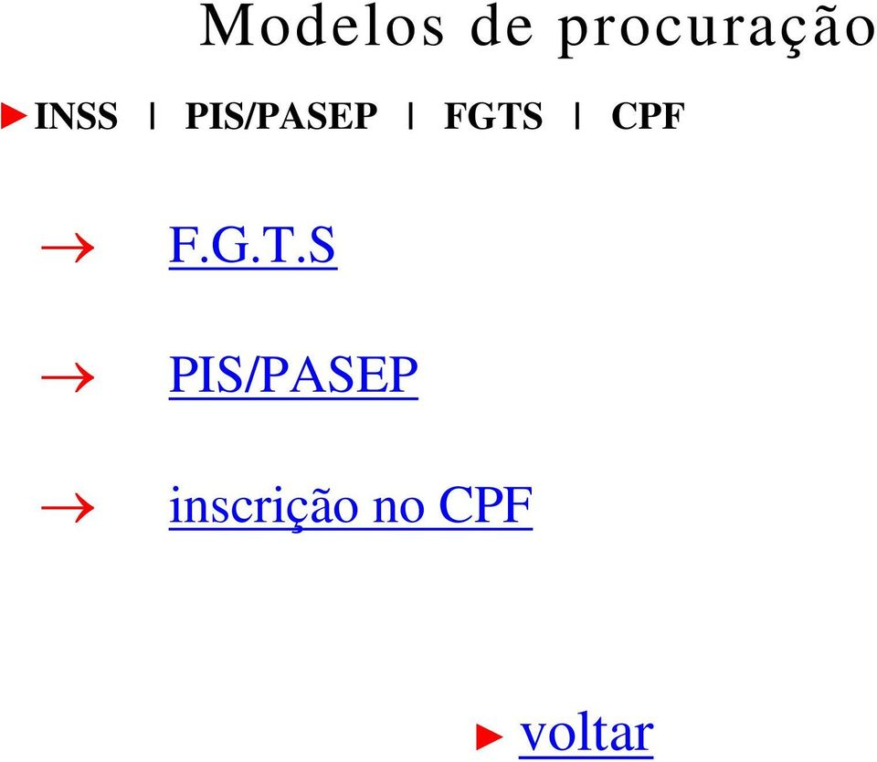 PIS/PASEP FGTS CPF