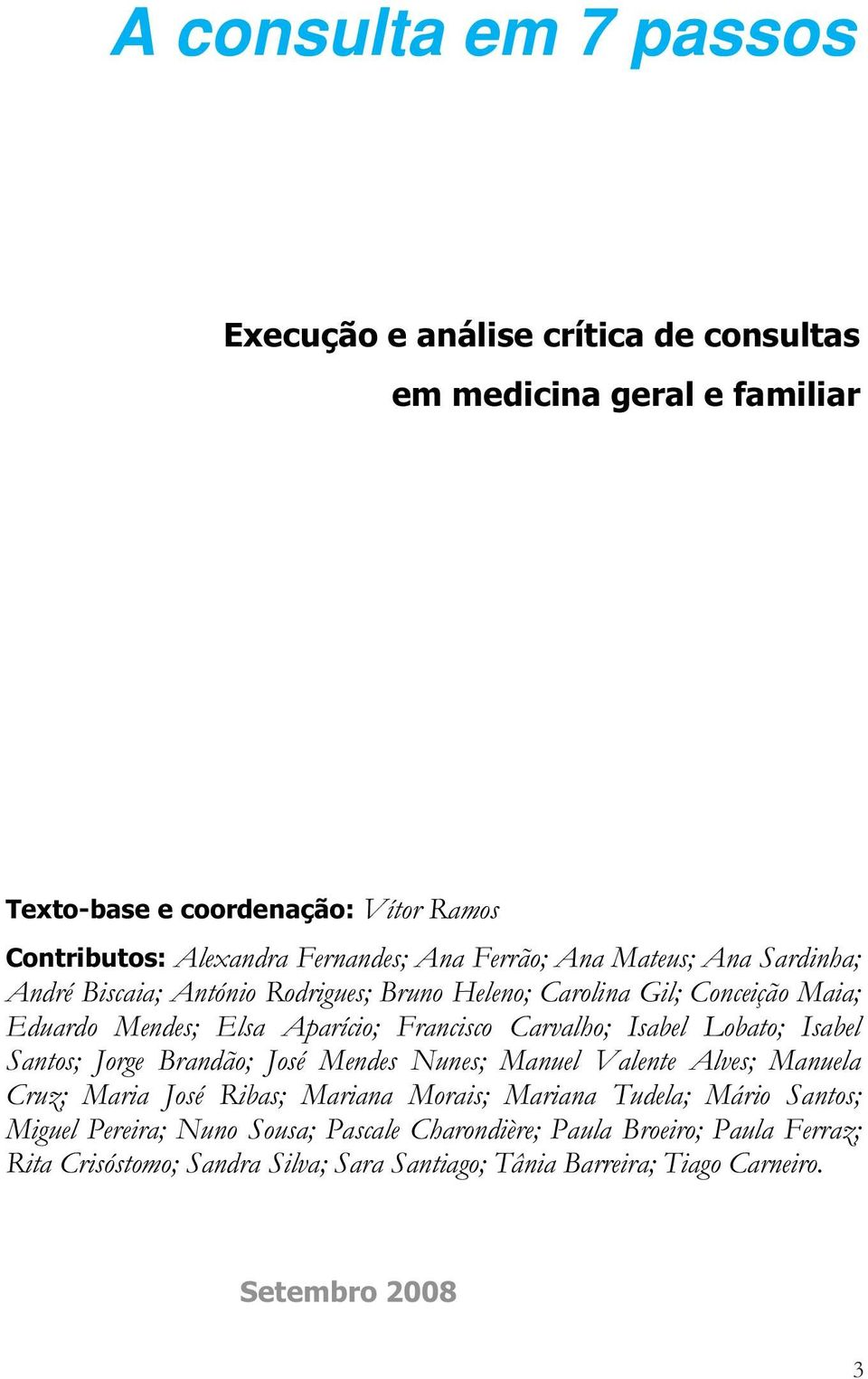 medicina geral e familiar Texto-base