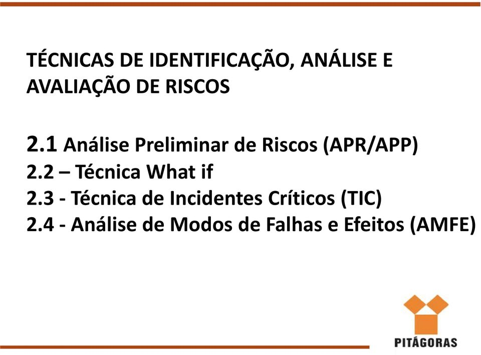 2 Técnica What if 2.