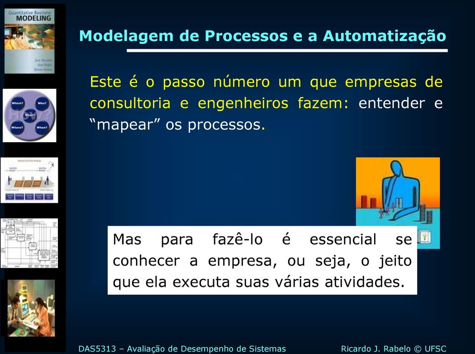 mapear os processos.