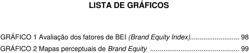 (Brand Equity Index).
