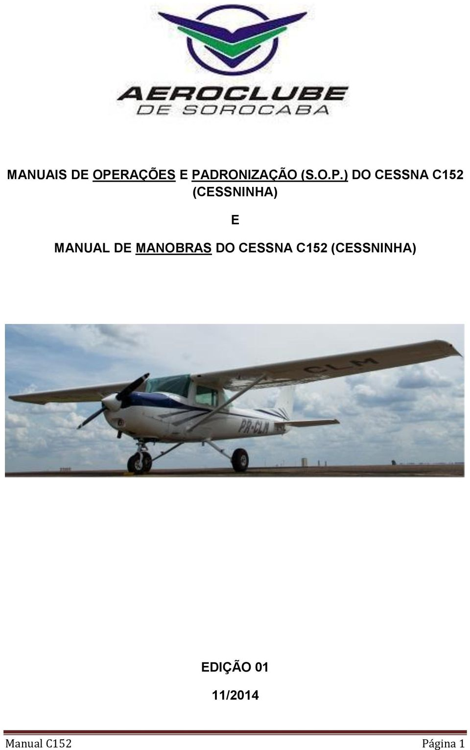 MANUAL DE MANOBRAS DO CESSNA C152