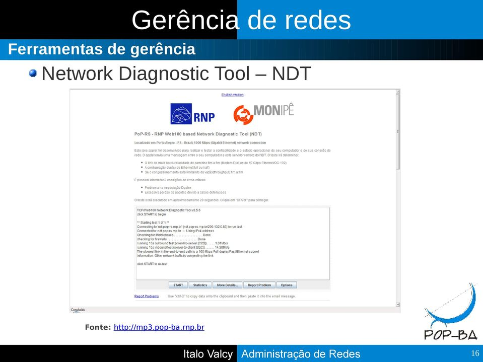 Network Diagnostic Tool