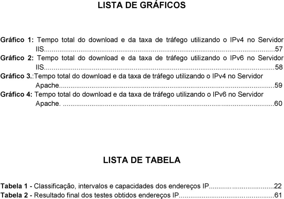 :Tempo total do download e da taxa de tráfego utilizando o IPv4 no Servidor Apache.