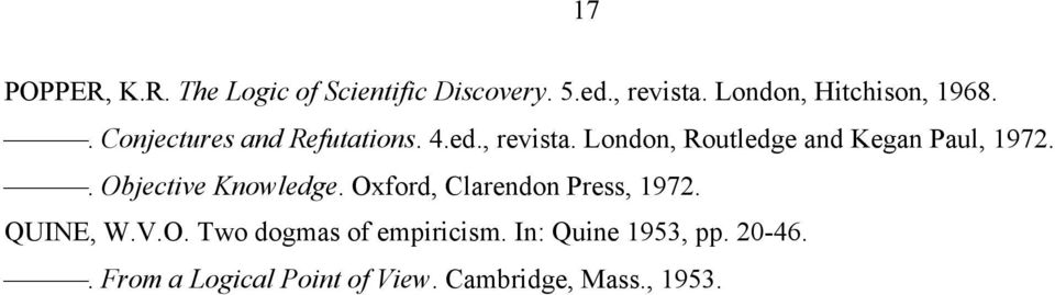 London, Routledge and Kegan Paul, 1972.. Objective Knowledge.