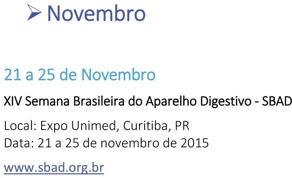 Local: Expo Unimed, Curitiba, PR Data: