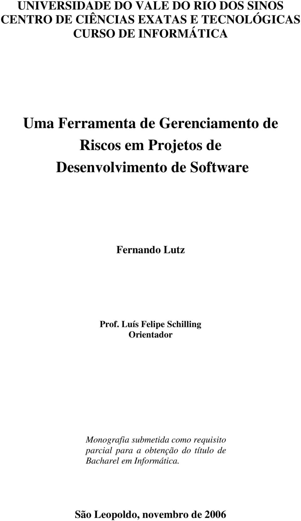 Software Fernando Lutz Prof.