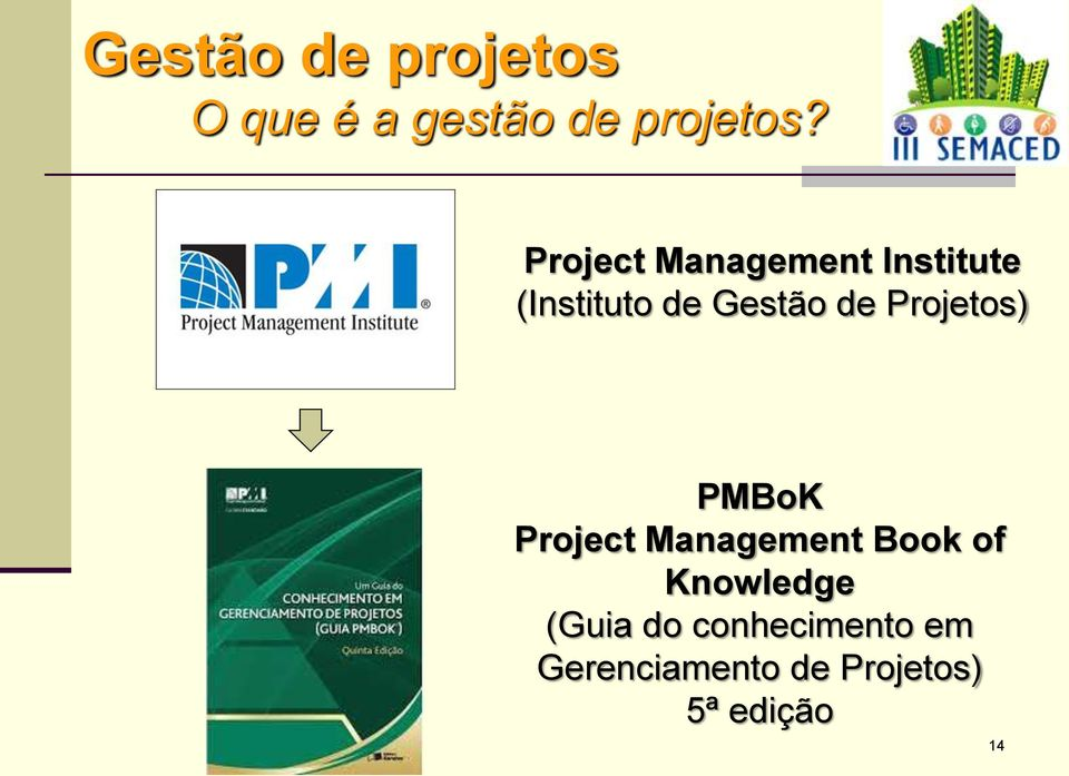 Projetos) PMBoK Project Management Book of Knowledge