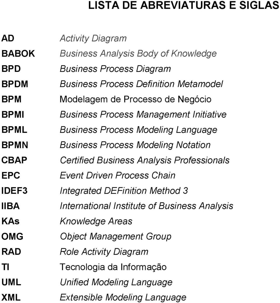 Notation CBAP Certified Business Analysis Professionals EPC Event Driven Process Chain IDEF3 Integrated DEFinition Method 3 IIBA International Institute of