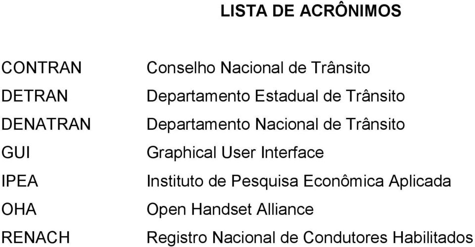 Nacional de Trânsito Graphical User Interface Instituto de Pesquisa