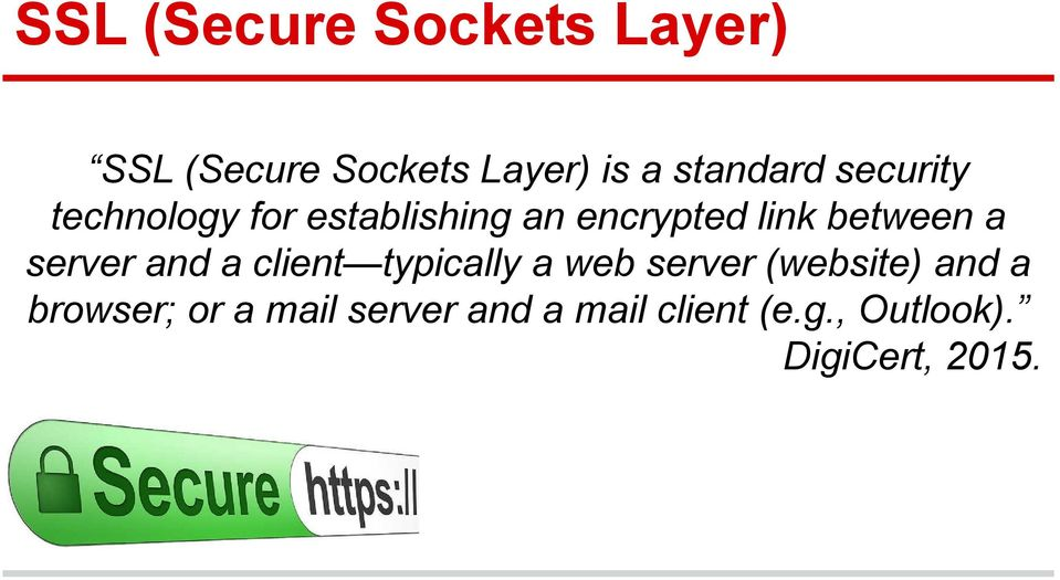 between a server and a client typically a web server (website) and