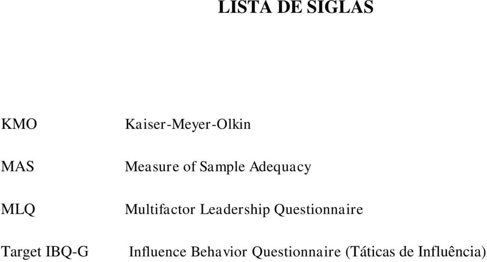 Multifactor Leadership Questionnaire