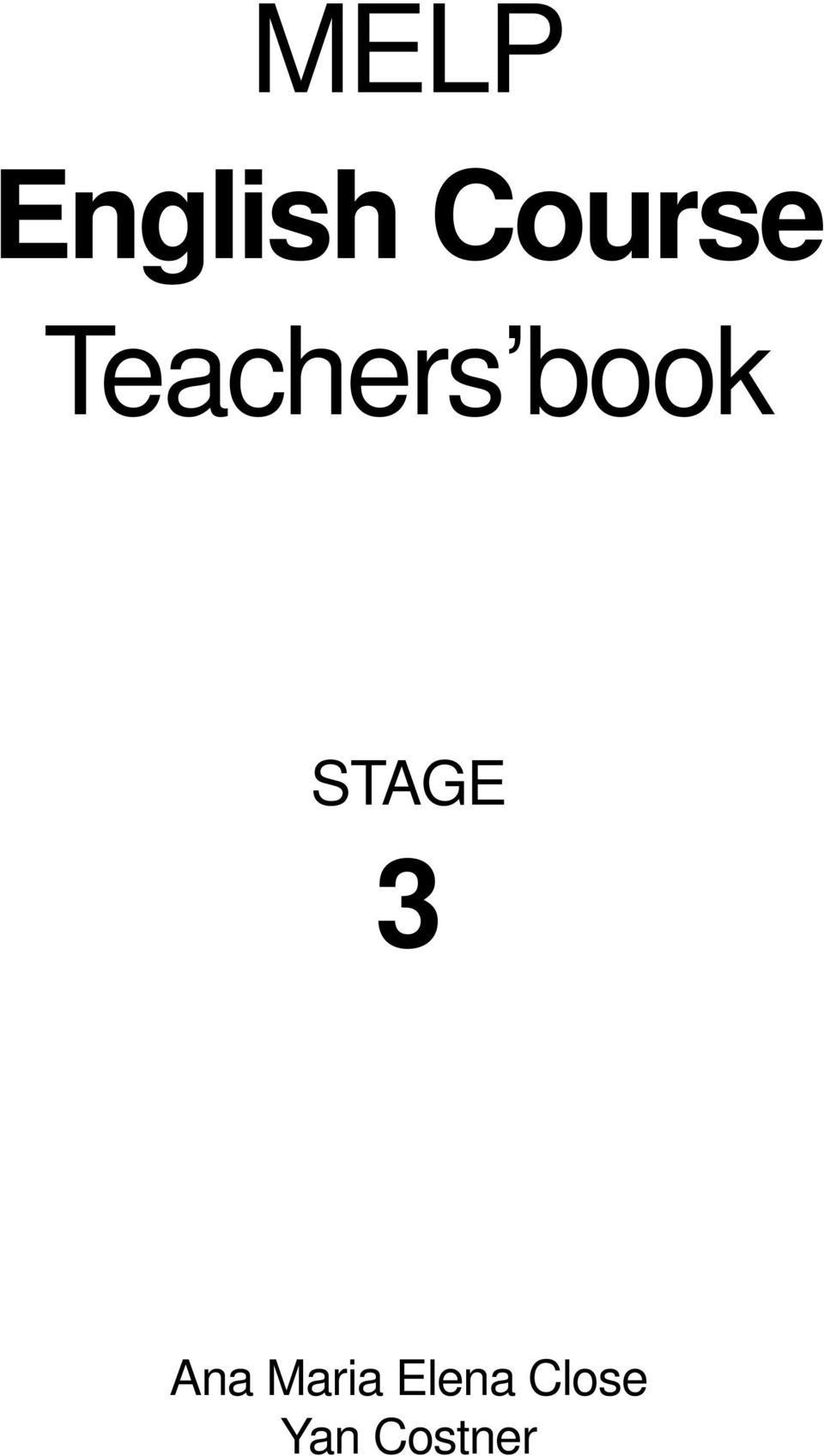 book STAGE 3 Ana