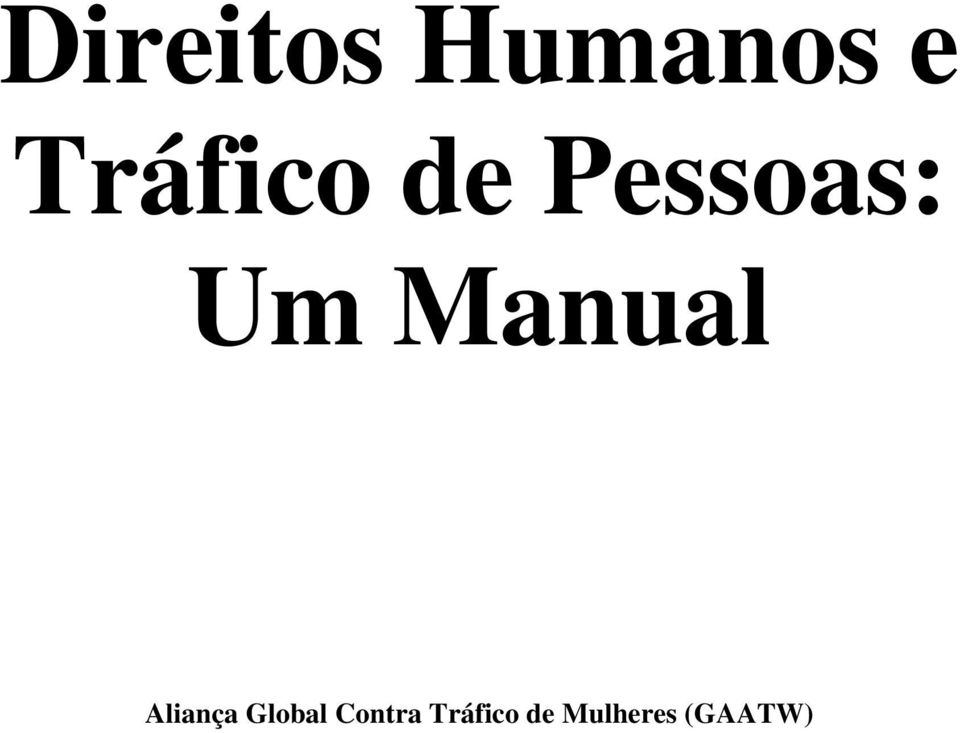 Manual Aliança Global