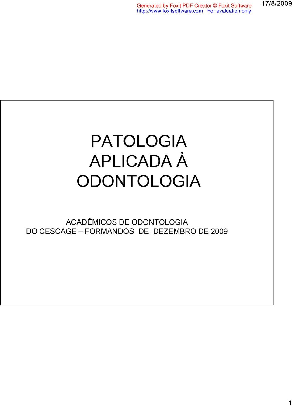 ODONTOLOGIA DO CESCAGE