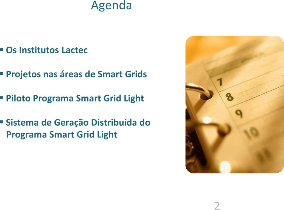 Programa Smart Grid Light Sistema de