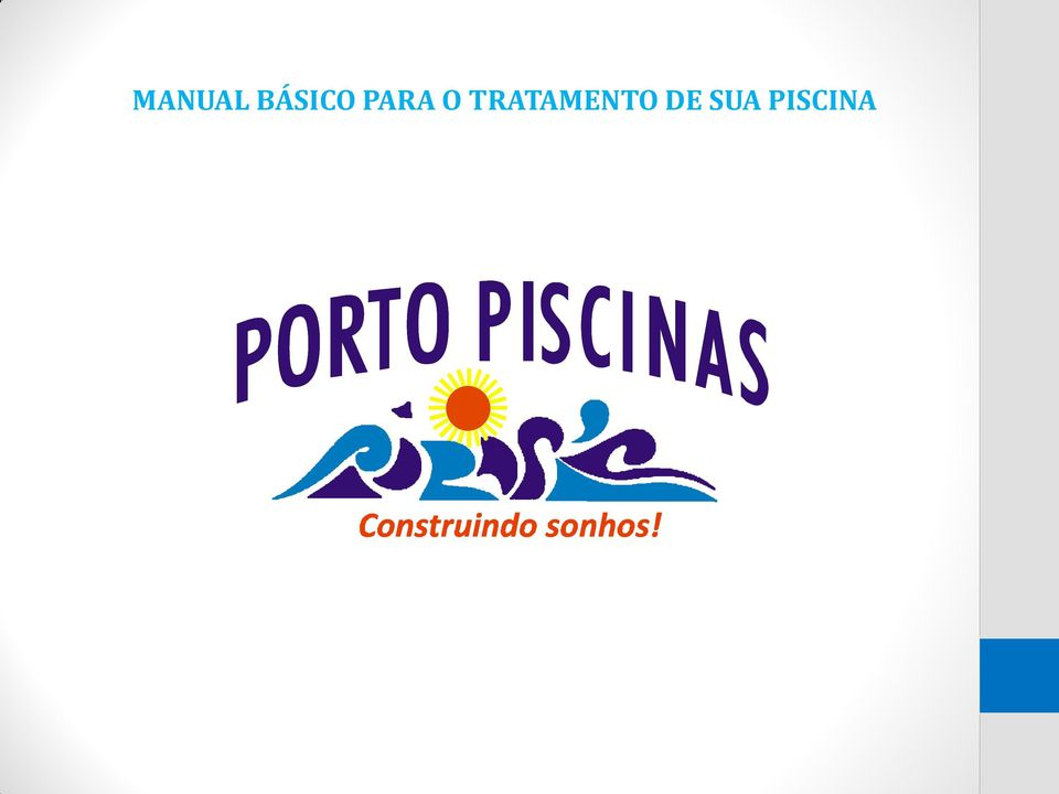 Manual b sico para o tratamento de sua piscina pdf for Manual de construccion de piscinas pdf