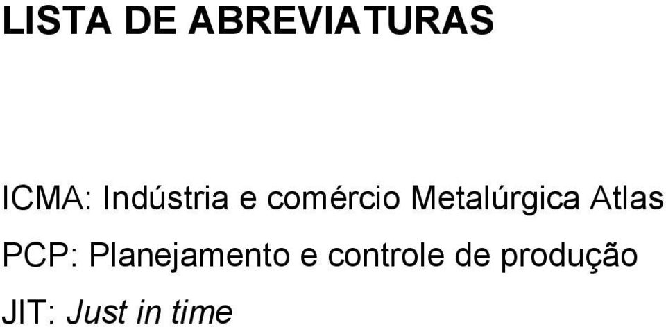 Metalúrgica Atlas PCP: